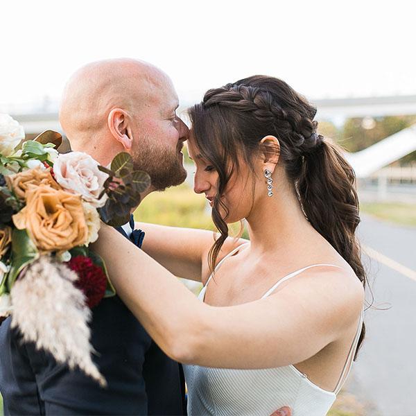 Ottawa Wedding Hair Testimonial - Kelsey B braided ponytail with curls