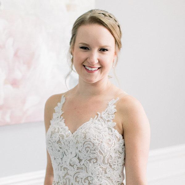Ottawa Wedding Hair Testimonial - Samantha D classic bridal updo braids curls